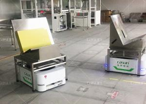 China 500kg Loading AGV Guided Vehicle , QR Code Navigation AGV Compatible With WMS on sale