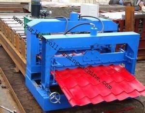 China Metal Roof Forming Machine Glazed Tile Cold Forming Machin Color Steel Glazed Roofing Tile Making Machine on sale