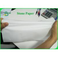 Tear Resistant 92g 216g Stone Wrapping Paper For Making Notebook Eco-friendly
