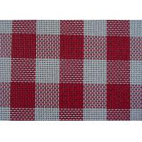 Supply grid in red white blue color outdoor PVC mesh fabric for beach chair placemat Textilene fabric