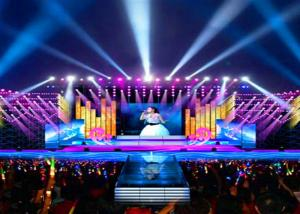 China P4 Interior Stage Rental LED Display Concert Background Video Wall Screens on sale
