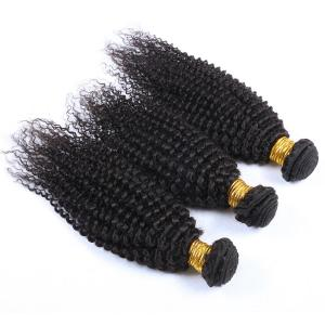 China Wholesale Unprocessed Human Hair Virgin Brazilian Hair Weave Natural Color Kinky Curl Hair Bundles on sale
