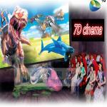 Nuevo simulador de la silla 7d del cine 7d para la excitación del parque de atracciones