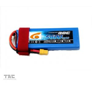 Quality RC UAV Drone Polymer Lithium Ion Batteries 7.4V 5400mAh 2S 25C discharger for sale