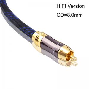China 8.0mm Wire RCA HIFI Coaxial 75 Ohm OFC Subwoofer 3.5mm Audio Cable on sale