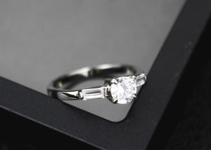 China Exquisite Zirconia Diamond Ring , Stainless Steel Crystal Zirconia Engagement Rings on sale