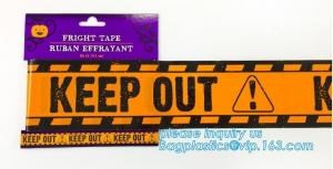 China Caution tape halloween underground cable warning tape,Haunted Halloween Decorations Caution Warning Tape - Trick Or Trea on sale