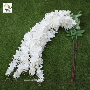 China UVG Wedding favor with white cheap silk artificial wisteria flower for party decoration on sale