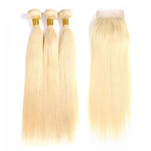 China #613 Blonde 100% Brazilian Virgin Hair Straight Human Hair Weave Easy To Dye And Restyle on sale