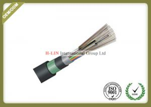 China Outdoor Buried Loose Tube Armored Fiber Optic Cable With PE Inner And Outer Jacket on sale