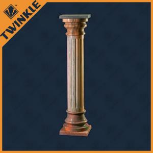 China Indoor Decorative Natural Stone Column Pedestal , Solid Columns For Homes on sale