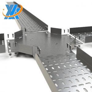 China steel stainless SS304 SS316 electrical perforated galvanized steel horizontal quadra sides pass metal cable tray on sale