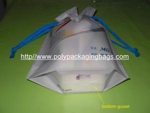 China Personalized CPE / LDPE Drawstring Plastic Bags For Girls Underwear / Bra / Bikini / Vest on sale