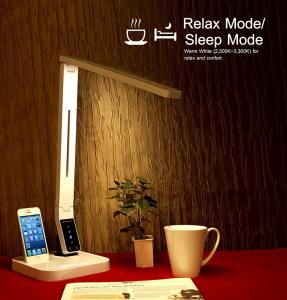 China 2016 promotion UL approval LED desk lamp with USB Iphone docking four CCT nine level brightness auto off timer on sale