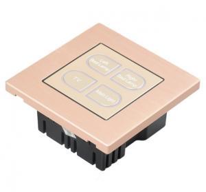 China 4 Gang 1 Way Modern Push Button Light Switch , Hotel Wall Light Control Switch on sale
