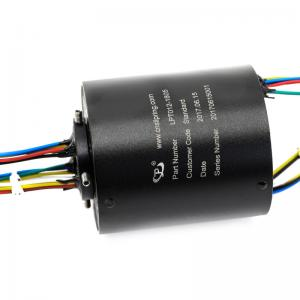 China Through Bore Slip Ring A 12mm Hole Rotary Swivel Joint  For Chip Shooter With A Long Life on sale