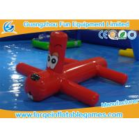 0.9mm PVC Inflatable Water Park Games Red Inflatable Dragonfly Water Toys For Children