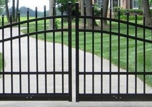 China Outdoor Decoration Automatic Driveway Gates For Garden / Residential , Eco Friendly on sale