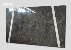 China Dark Emperador Marble Natural Stone Slabs Polished 18mm Thickness Non Porous on sale