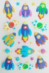 No tóxico hinchado de las etiquetas engomadas profesionales de la espuma 3D para los niños