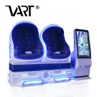 China 2 Seats 9D Virtual Reality Cinema / 360 Vision Roller Coaster VR Egg Chair on sale