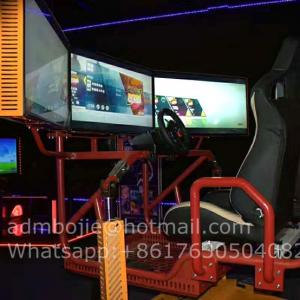 China arcade indoor 360 degrees rotation game machine coin operated 2 players car vr racing simulator on sale