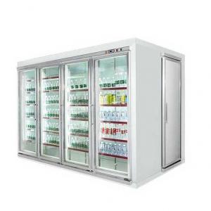 China Commercial Beverage Cooler , Glass Door Display Cold Room For Beverage on sale