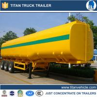 Tri - axle crude oil , petrol tanker trailer with customized capacity , size , color