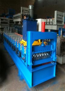 China Automatic 750 IBR Corrugated Color Steel Roll Forming Machine For Iron and Aluminum Metal Sheet on sale