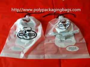 China Одежда/подушка упаковывая поли полиэтиленовые пакеты Drawstring ясности мешка on sale