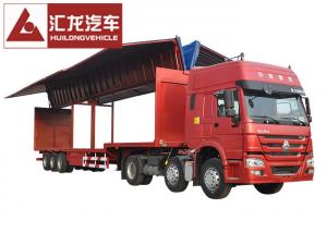 China Drop Deck Wingspan Trailer  Curtain Side Trailer High Loading and Unloading Efficiency on sale