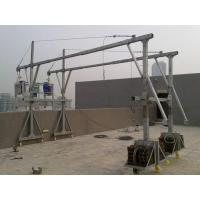 Aluminum temporary gondola / glass cleaning machine / suspended scaffolding  factory