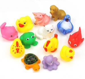 China Floating Baby Rubber Bath Toys Animal Shape 12 Pcs Harmless Gifts For Children on sale