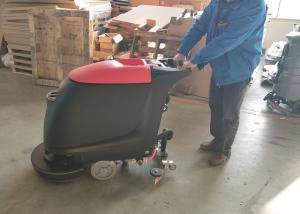 China Portable Walk Behind Concrete Floor Scrubber With 45L Recovery Tank No Residue on sale