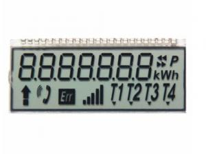 China 12 O'Clock 7 Digit Tn Panel Display , Twisted Nematic Lcd For Communications / Telephone on sale