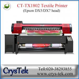 China L'imprimante de textile de CrysTek CT-TX1802 avec la double tête d'impression d'Epson dx5, dirigent la copie sur le drapeau, tissu, textile on sale