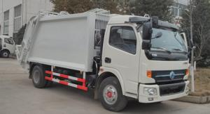 China 8 Cbm Garbage Compactor Truck Single Cab Rubbish Compactor Truck With Cummins Engine on sale