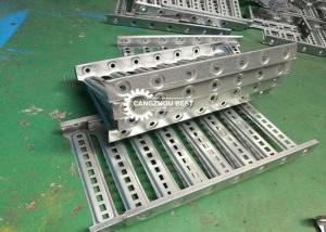 China Steel Metal Galvanized Punching Holes 2.5mm Cable Tray Roll Forming Machine on sale