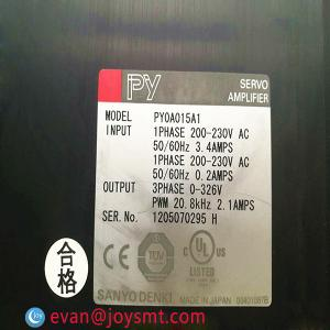 China PY0A015A1 SMT sanyo denki servo drive  for Samsung pick and place machine on sale