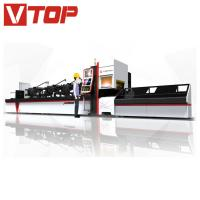 Automatic Bundle Loader Fiber Laser Tube / Pipe Cutting Machine