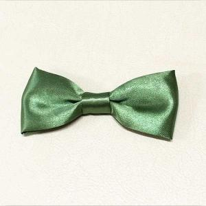 China Luxurious Matte Satin Ribbon Bow Crafts Champagne Bowtie For Wedding Party on sale