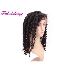 China Deep Wave Full Lace Wigs Kinky Curly Human Hair For Black Women on sale