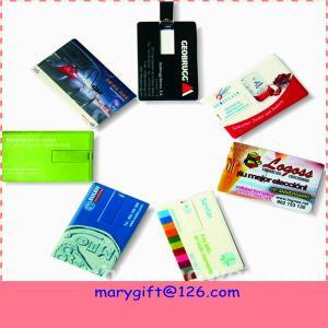 China Memoria USB de memorias USB del hotsale de los pendrives de la tarjeta de crédito con precio barato on sale
