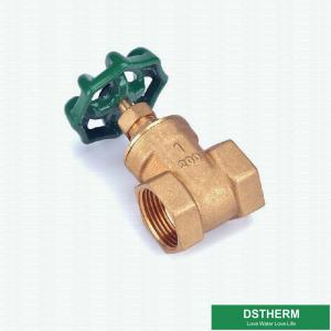 China Blue Cast Iron Handle Customized Brand 1 Inch BSPT Heavier Style Brass Gate Valve on sale