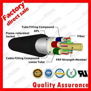 China outdoor fiber optic cable gyftza 48 72 96 144 Cores APL Armored jacket with black PE LSZH Flame Retardant sheath cables on sale