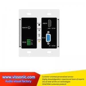 China Full Digital Seamless Matrix Switcher HDMI / VGA To HDBaseT Wallplate VIS-HE20 on sale