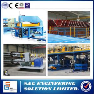 China 435 - 1150mm Width PU Sandwich Panel Production Line With Color Steel Roll Forming Machine on sale