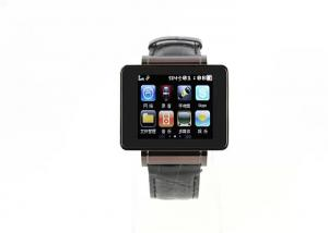 China Wireless Bluetooth Smart Watch Phone Manufacturer Metal Casing Leather Strap on sale