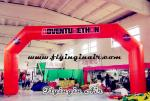 12m Large Orange Inflatable Advertising Arch for Business Events