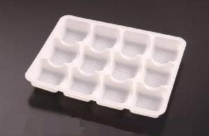 China Pumpkin Pie Tray Disposable Food Trays With Plastic 12 Holes 24cm on sale
